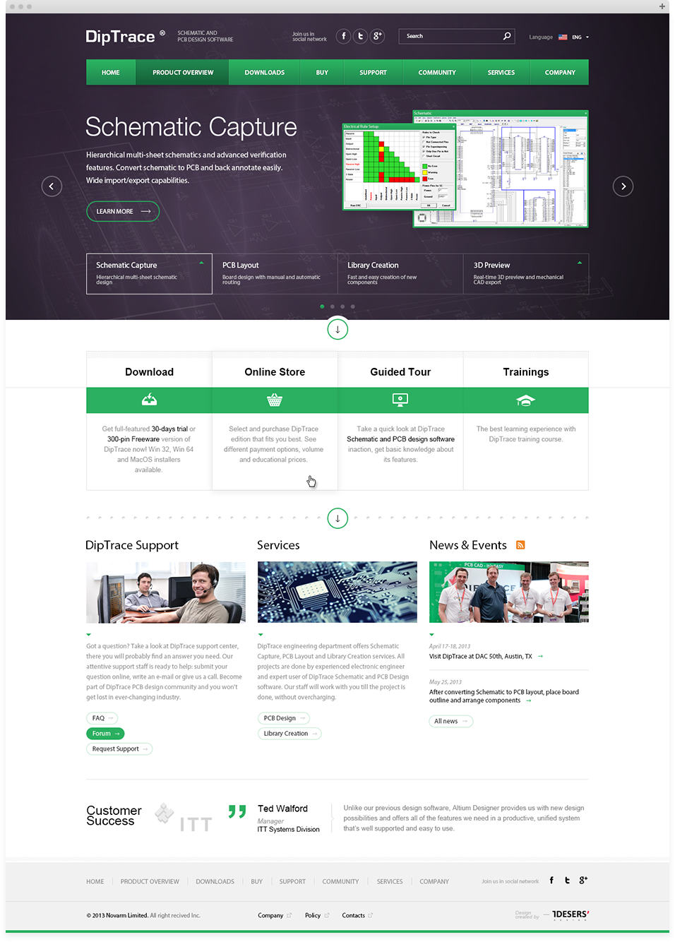 Dip Trace - Web Design by Tdeser